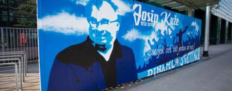 Zagreb, 11.07.2013 - Mural ispod sjeverne tribine u cast nedavno preminulom treneru Josipu Kuzeu